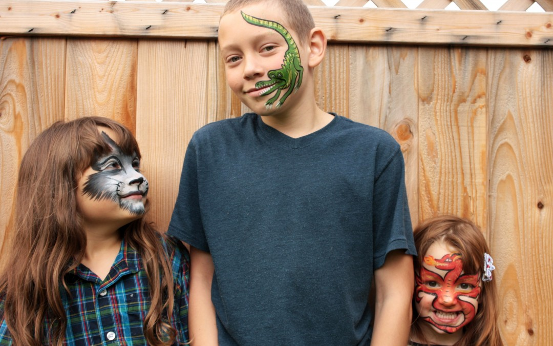 Children's Face Painting Photoshoot