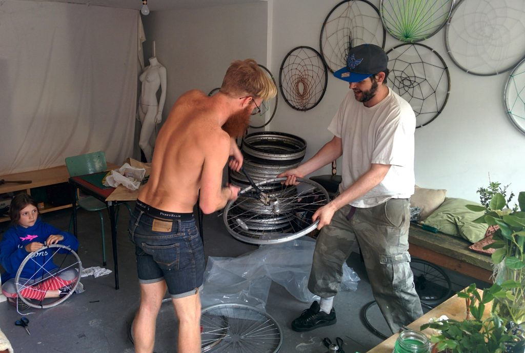 150 Bike Wheels Later Christine White Artist